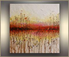 Wild Flowers Abstract oil Painting ORIGINAL by OriginalPaintingsTR