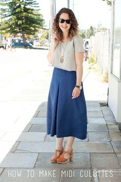 megan nielsen design diary: Tutorial // how to make midi Tania culottes!