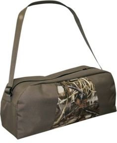 Tired of not having an organized way to transport and store your expensive motorized decoy and accessories? With separate inside pockets for the wings and batteries/charging units, this rugged bag ends that problem for good. Camo pattern: Realtree MAX-4.