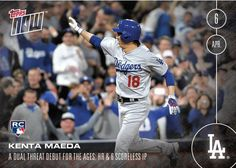 f95fabc7dea 2016 Topps Now - Kenta Maeda  7 - A Dual Threat for the Ages. Baseball  SeasonLos Angeles DodgersDodger BlueBaseball CardsSeasonsSeasons ...