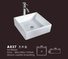 http://www.dreambath.cn/small-hand-sink.html Product Name: Small Hand Sink  Model No.: DB-A037  Dimension:380X380X130mm  (1 inch = 25.4 mm)  Volume:0.027 CBM  Gross Weight: 9 KGS  (1 KG ≈ 2.2 LBS) Sink shape: Square