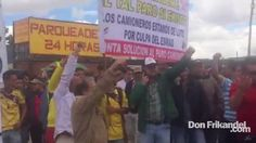 Paro Camionero: Camioneros protestan en la Calle 13 con Carrera 94 de Bo...