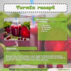 Brokkolis cékla turmix recept #turmix #recept Healthy Life, Smoothies, Health Fitness, Minden, Vegetables, Drinks, Breakfast, Science, Food
