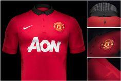 Camisa titular do Manchester United 2013-2014 - Novas camisas dos times europeus