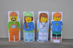 Block People - printable to wrap around toilet rolls from Be a Fun Mum