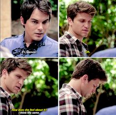 Season 6 Episode Caleb and Toby Watch Pretty Little Liars, Pretty Little Liars Quotes, Uber A, Secrets And Lies, Tyler Blackburn, First Girl, Pll, My Heart Is Breaking, Kisses