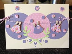 Baby shower card. Made with the owl stampin up punch and circle punch!