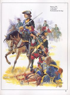 Russia;Battle of Poltava 1709 Tsar Peter I and a grenadier of the Preobrazhenski Guard Regiment