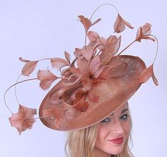 Copper Feather Profile Fascinator