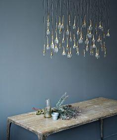 Hand blown glass chandelier   a trademark piece from Ochre