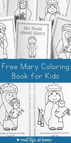 Free Mary Coloring Book perfect for Catholic kids, includes six coloring pages with Marian apparations, such as Our Lady of Guadalupe and more. Catholic Schools Week, Catholic Religious Education, Catholic Bible, Catholic Crafts, Catholic Religion, Catholic Kids, Kids Church, Catholic Traditions, Catholic Sacraments