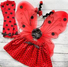 Baby Girl Halloween Costume - Girl Ladybug Outfit - Ladybug Costume - Ladybug Wings - Ladybug Outfit Girl
