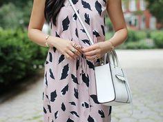 Black, White & Pale Pink Dress