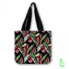 Cheap Tropical Hawaiian banana leaf upholstery Tote Bags