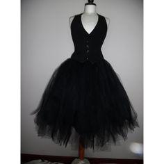 black tutu skirt below the knee adult goth gypsy lagenlook weddings... ❤ liked on Polyvore featuring skirts, ballerina tutu, midi skirt, ballet skirt, below the knee skirts and midi tutu skirt
