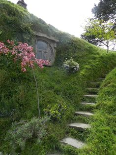 Love the steps to this Hobbit house