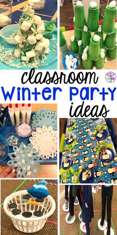 Winter classroom party ideas - easy, low prep, and fun for preschool, pre-k, or lower elementary. party Classroom Winter Party - Pocket of Preschool Winter Activities For Kids, Winter Crafts For Kids, Party Activities, Winter Fun, Winter Theme, Winter Holidays, Preschool Winter, Winter Season, Preschool Christmas