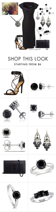 """Karen's Dress for Kathrine's Funeral"" by stephanie-jozwiak ❤ liked on Polyvore featuring Schutz, Allurez, BERRICLE, Ice, Julie Leah and Yves Saint Laurent"