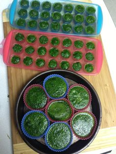 Genius move: freeze greens into cubes and then toss 'em in smoothies for an easy, healthy boost.
