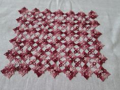 Tatted Doily or placemat varigated maroon & pink by AllWaysTatting, $25.00