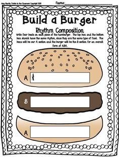 Build a Burger Composition Template Set