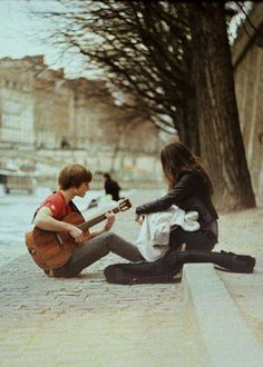 """He'd seen her everyday- the blind girl sitting on the edge of the street. And today? He decided to stop watching. """"Hey… Mind if I sit? I have a song to play for you..."""""""