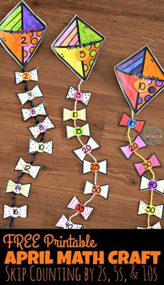 FREE Printable April Math Craft – this super cute spring math craft for kindergarten age kids helps kids practice skip counting by and – craft-ideas. Kindergarten Age, Preschool Math, Kindergarten Activities, Kindergarten Crafts Summer, Kindergarten Pictures, Math For Kids, Fun Math, Math Games, Multiplication Activities