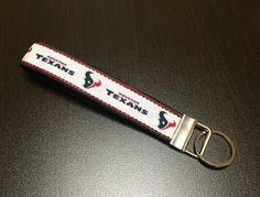 NFL Houston Texans Wristlet FOB Keychain by ByChinchie on Etsy