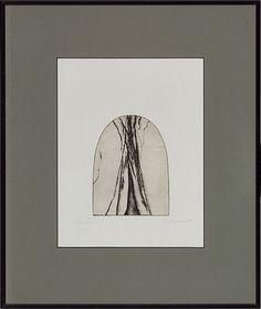 """Zdenka Rusova, """"Form II"""" 1982 Radering, cm Signert og datert nede til høyre… Female, Kunst"""