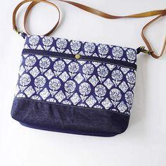 Indigo Block Print Denim Bag Indigo Prints, Indian Block Print, Print Fabrics, Print Denim, Indian Fabric, Denim Bag, Everyday Bag, Small Wallet, Printed Bags