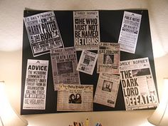 Decoration idea, not sure for what but i like the concept of newspaper articles