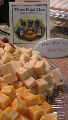 Three Blind Mice cheese tray.
