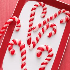 Pulled Taffy Candy Canes Recipe from Taste of Home -- The soft and chewy canes have a great minty flavor. Shared by Sheryl O'Danne of Port Townsend, Washington.