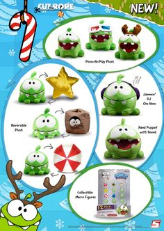 "Canadians: Have you started your Holiday shopping? Make it an Om Nom season! Cool new plush toys and collectible micro-figures are now available at Toys ""R"" Us Canada in-store and online."