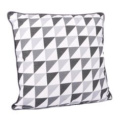 Malini Grey Triangles 45x45 Cm Onesize, Grey