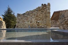 Photo of Stone House / Carl Fredrik Svenstedt Architect-Photo of Stone House / C. Photo of Stone House / Carl Fredrik Svenstedt Architect-Photo of Stone House / Carl Fredrik Svenstedt Architect Phot Pool Water Features, Old Stone Houses, Houses In France, Garden Pool, Cool Pools, Farmhouse Design, Modern Rustic, Interior And Exterior, Interior Design