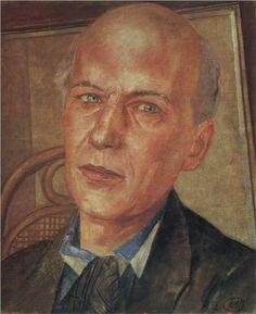 1932 - Kuzma Petrov-Vodkin - Portrait of Andrei Bely