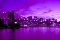 View of Brooklyn - edited with purple dim lighting:)