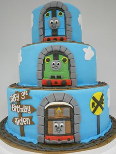 What's a themed birthday without a Thomas and Friends Birthday Cake?!