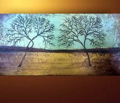 Abstract Trees Art Painting on wood by Louisiana Artist Derek Patterson