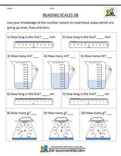 ... worksheets reading scales 3a 1000×1294 : Ks1 Maths Worksheets Reading