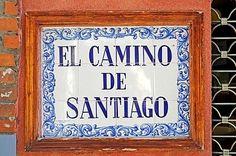 El Camino de Santiago,sign,Spanish tiles,azulejos,Leon,province of Castilla y Leon,Spain, Royalty Free Images, Photos and Stock Photography :: Inmagine
