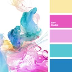 A mix of pastel and bright colors for the candy like color palette. what a lovely color the for a child's nursery or kids room! Colour Pallette, Colour Schemes, Color Patterns, Color Combos, Bright Color Palettes, Color Trends, Color Balance, Color Harmony, Decoration Palette