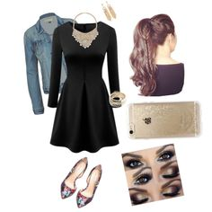Casual Date Night by treppenwits on Polyvore featuring polyvore, fashion, style, Bebe, ZooShoo and Rifle Paper Co