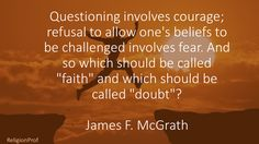 Confusing faith and doubt
