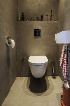 Bekijk de foto van tanja0904 met als titel Beton ciré in het toilet. Prachtig! en andere inspirerende plaatjes op Welke.nl.