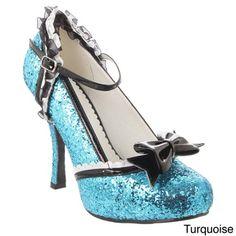7159b07969b Ellie Women s  453-Lacey  Mary Jane Glitter Pumps