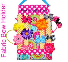 FREE Fabric Bow Holder | YouCanMakeThis.com