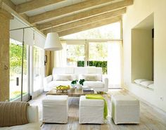 A Finca in Mallorca. Outdoor Living Rooms, Living Spaces, Room Inspiration, Interior Inspiration, Interior And Exterior, Interior Design, Room Interior, Interior Architecture, Wall Seating