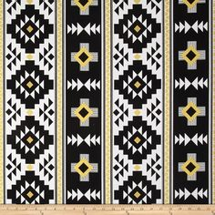 Riley Blake Four Corners Gold Sparkle Main Black from @fabricdotcom  Designed by Riley Blake, this cotton print fabric is perfect for quilts, home décor accents, craft projects and apparel. Colors include white, black and metallic gold.